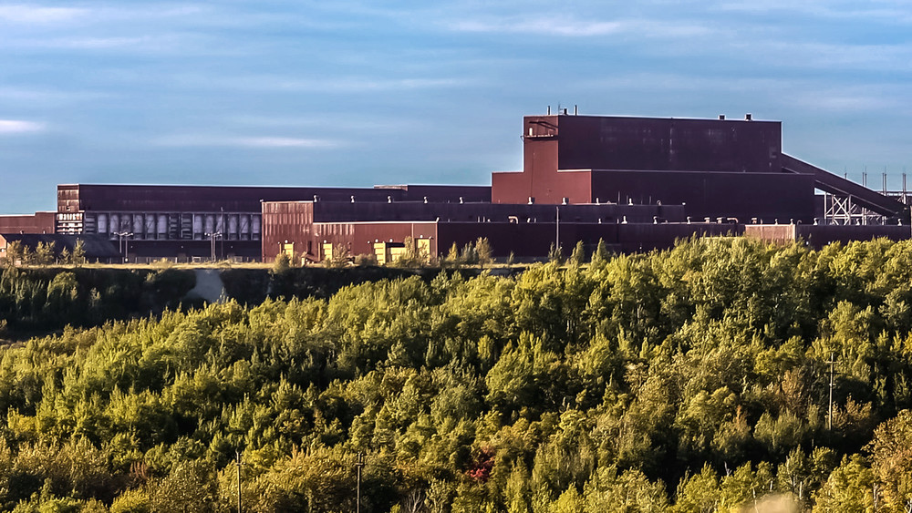 An aerial view of the former LTV processing plant, which PolyMet proposes to refurbish for its planned copper-nickel mine.