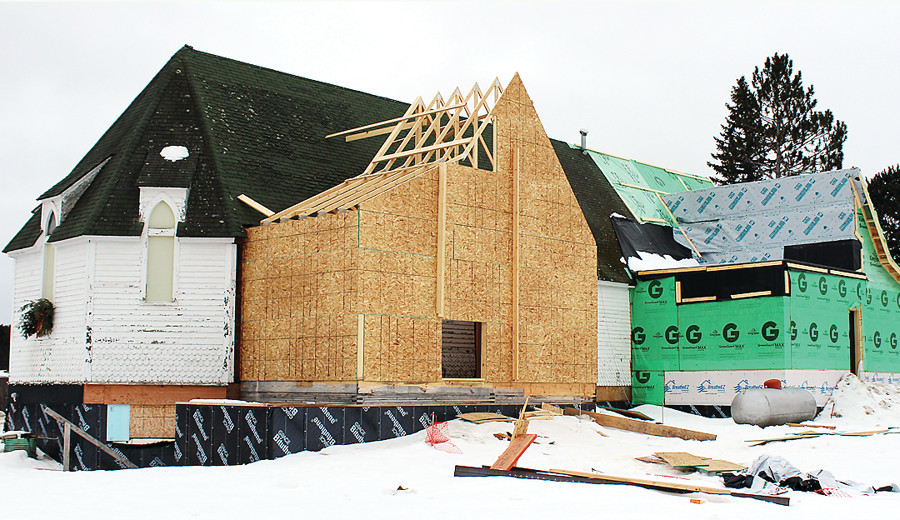 The Lake Vermilion Cultural Center project includes expanding the historic St. Mary's Episcopal Church building that has been moved to a new location on Main Street in Tower.
