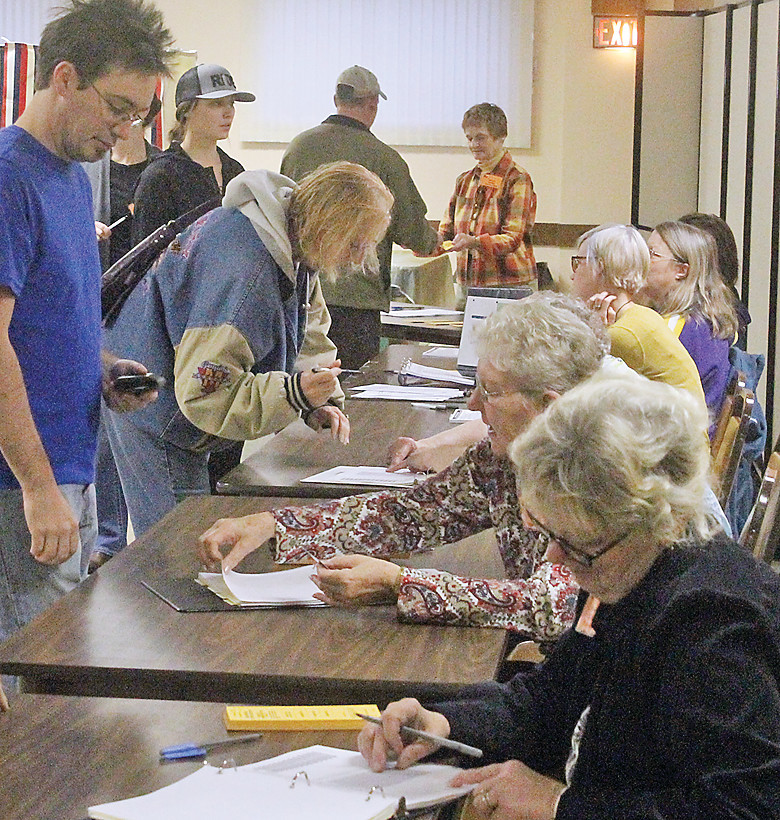 Election judges and poll workers were busy during the Nov. 8 general election in Ely. Despite the President's claims of widespread voter fraud, election officials say there's no evidence for it and that they work hard to keep voting rolls up to date.