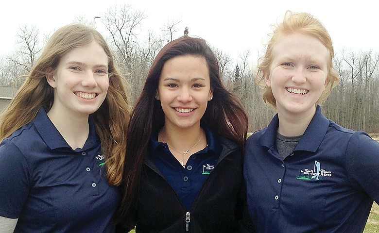 Ashley Vito, Kristen Lilya and Kate Beaudry are   looking to help lead their team to another state   tournament run this year.