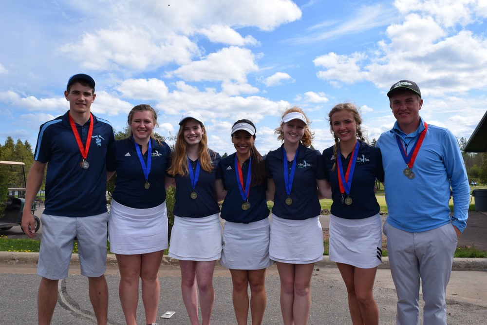The North Woods girls golf team ran away with the Section 7A championship to earn a repeat trip to state on Wednesday - Thursday in Virginia, while individuals Chase Kleppe and Tate Olson advanced to state in the boys competition.