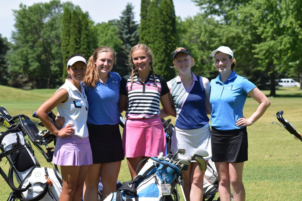 The North Woods girls golf team finished in sixth place at the Class A state tournament in Becker, improving upon last year's total score by 55 strokes.