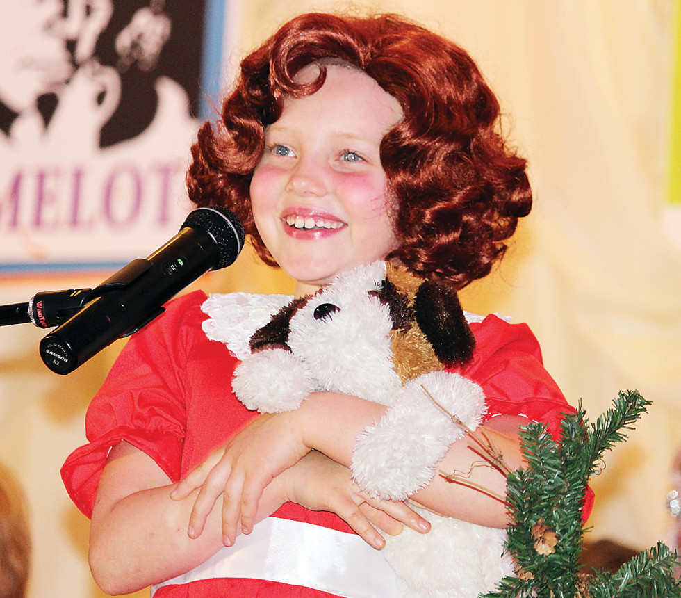 "Claire Jonas charmed the audience singing ""Tomorrow"" from the musical Annie."