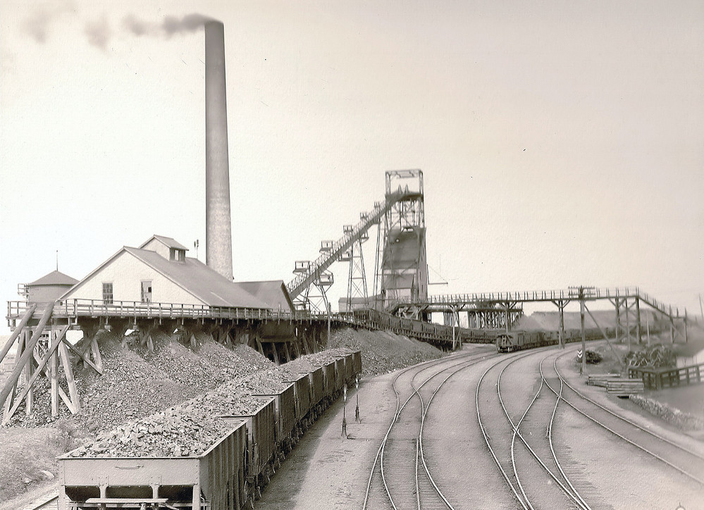 The B Shaft at the Pioneer Mine, in Ely, during operations.