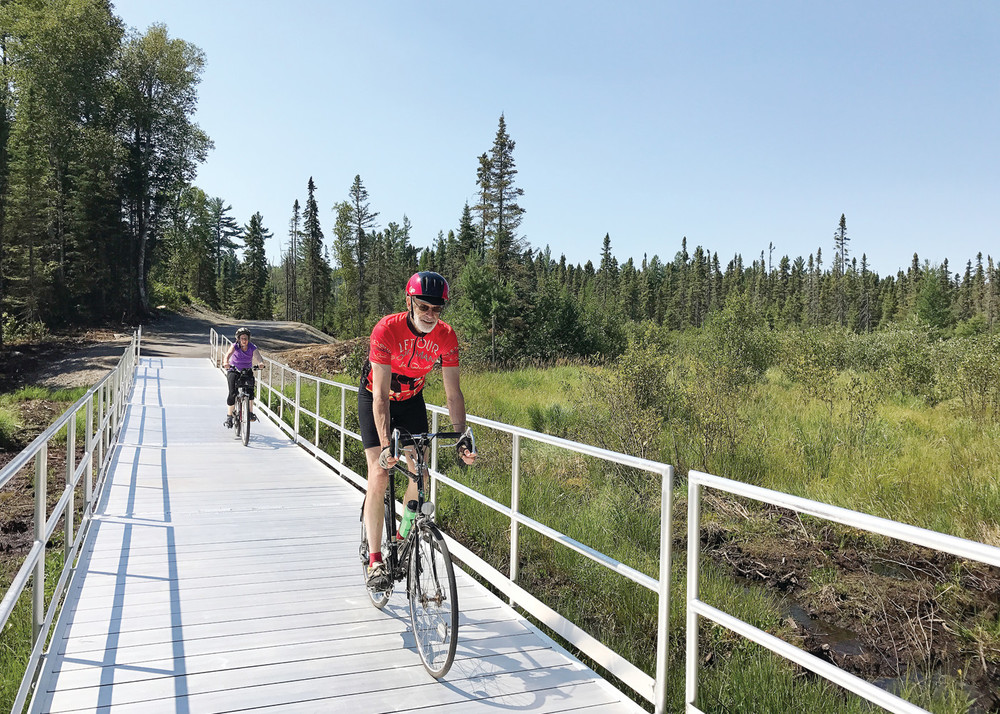 Part of the new portion of the Mesabi Trail runs through Eagles Nest Township.