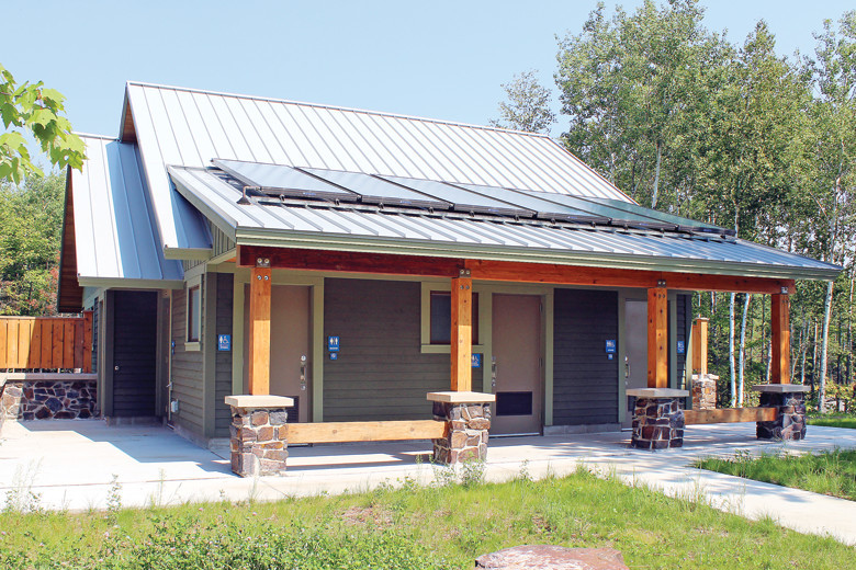 The campground at the new Lake Vermilion-Soudan Mine State Park is set to open and will feature a solar-powered shower house.