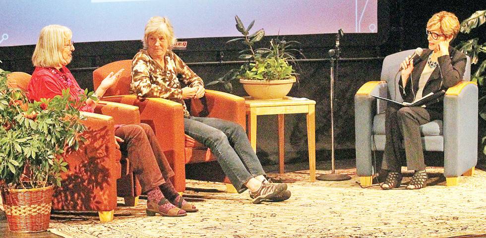 Two Ely-area artists, Cecilia Rolando and Jeanne Bourquin, discuss with MPR's Cathy Wurzer the use of creative arts in expressing living and dying issues during a Convening event in Ely.