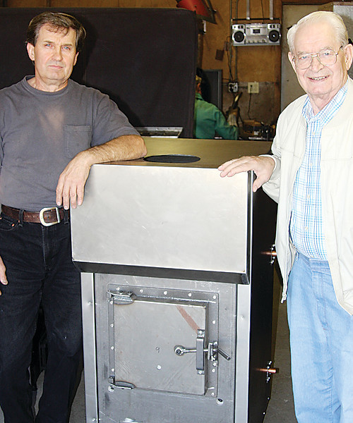 Daryl Lamppa and his father Herb worked together to develop their remarkable wood furnace.
