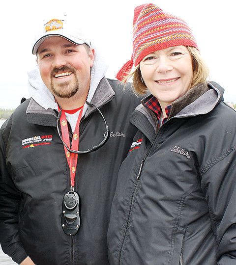 Minnesota Lt. Gov. Tina Smith caught her first-ever fish on Lake Vermilion during the 2015 Governor's Fishing Opener, with help from guide Casey Sunsdahl, of Soudan.