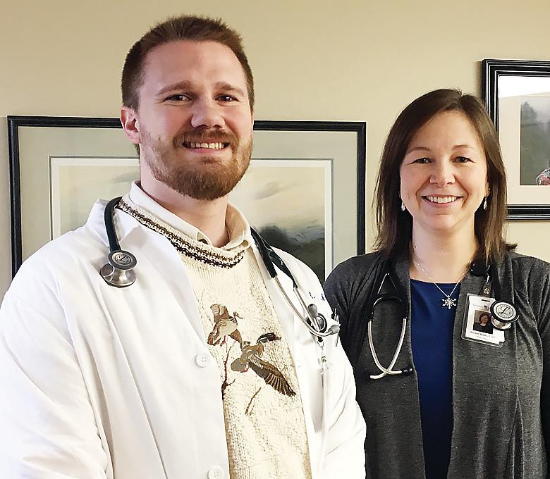 Dr. Eric Elleby and Nurse Practitioner Rachel Beldo.