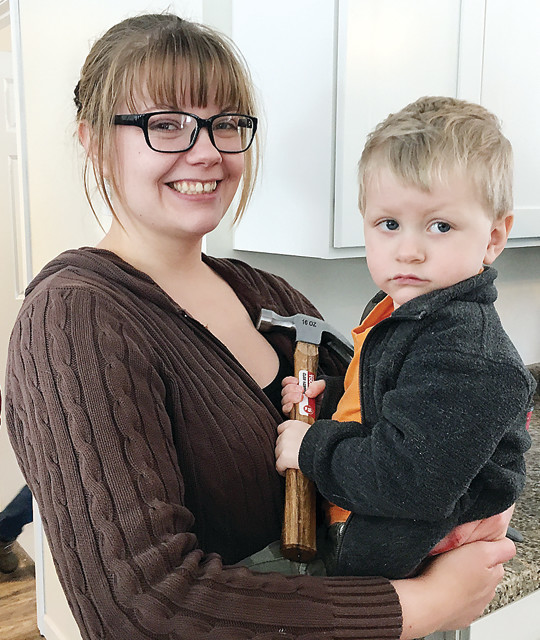 Harley Pajari and her son Liam moved into their new Habitat for Humanity home in Cook just in time for Christmas.