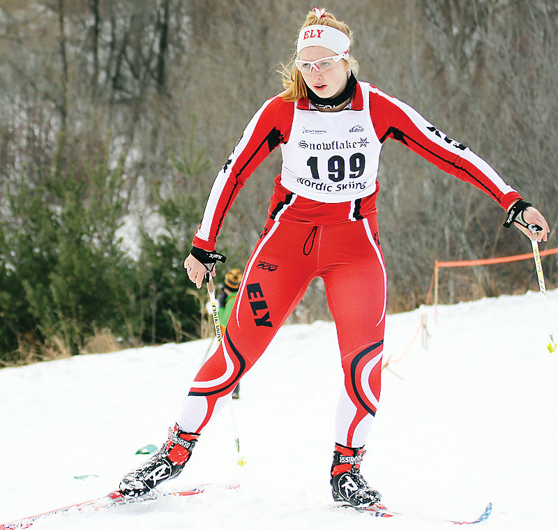 Ely's Lucy Stouffer competed in the Marshall Sprints in Duluth over the weekend.