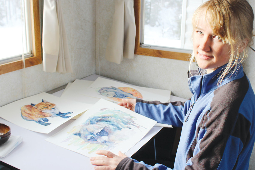Tower watercolor wildlife artist Ashley Thaemert is participating in the 2018 Ely Art Walk. Her work is on display at the Ely Folk School.