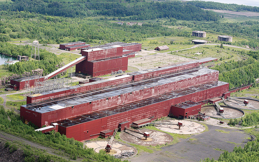 The former LTV taconite processing plant, now owned by PolyMet Mining. The plant is expected to process about 32,000 tons per day of sulfide ore.