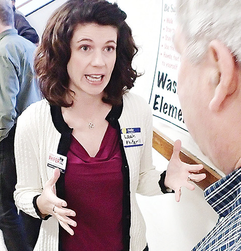 eah Phifer, a DFL candidate for the 8th Congressional District seat, fell short in winning the party's endorsement last Saturday. She is shown here at the Ely regional caucus earlier this spring.