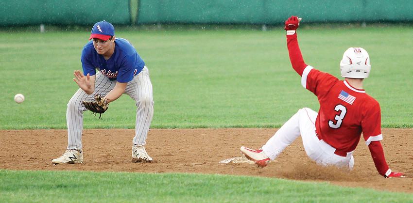 Ely senior Carter Gaulke slid safely into second during tournament play late last week against Chisholm. The Wolves fell to South Ridge on Tuesday to end their state   tournament hopes.