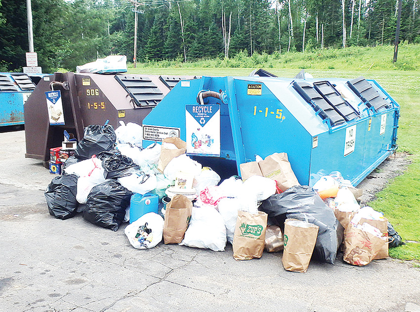 Piles of garbage were left at the Greenwood Town Hall grounds over the Fourth of July holiday and residents are demanding action from township officials.
