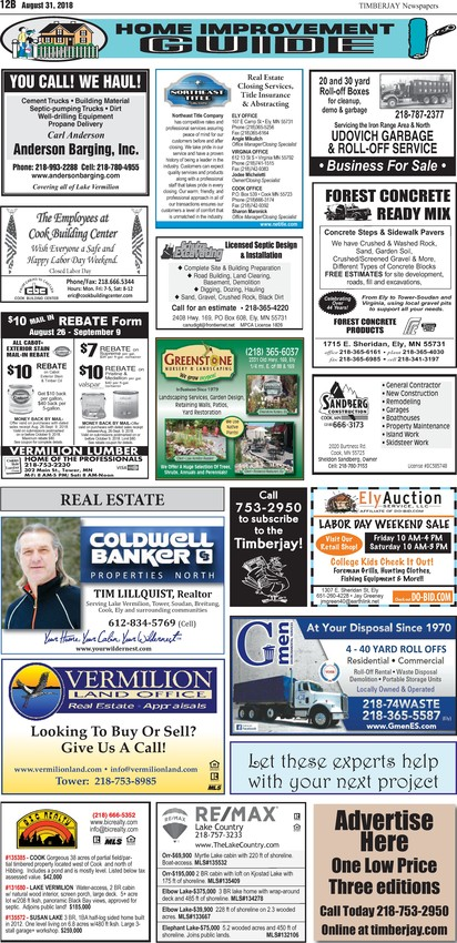 Click here for legal notices and classifieds from page B12
