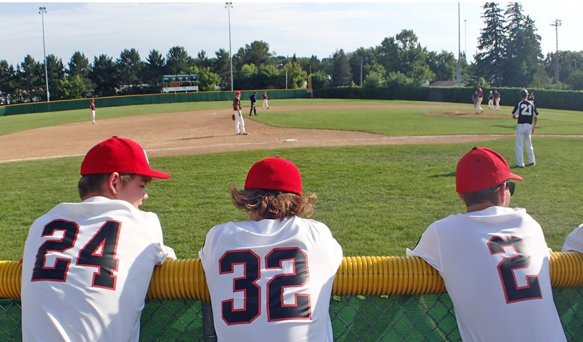 Ely Legion players wait to play on Friday. photo by K. Vandervort