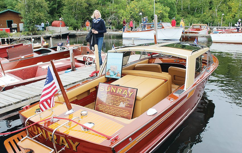 "The newly-restored ""Sunray,"" once owned by the actor Robert Redford, was a big hit at this past Sunday's boat show."