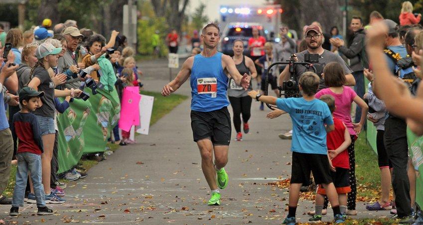 Andrew McNamara, 38, of Goodhue won the 2019 Ely Marathon.