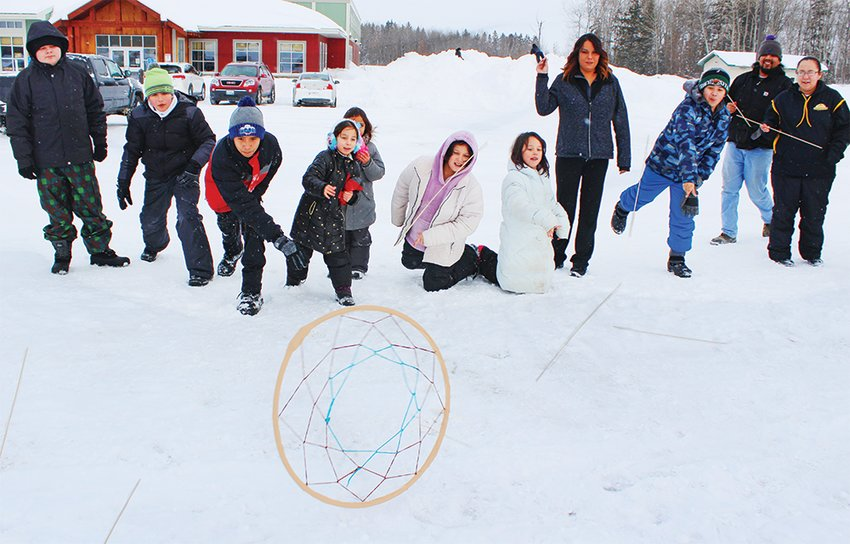 Area children and adults learned a variety of outdoor activities last Sunday at the Winter Indigenous Games held on the Vermilion Reservation.