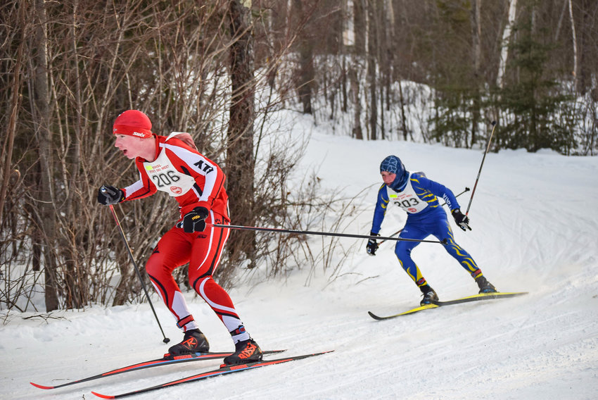 Ely's Jasper Johnston negotiates a corner during state Nordic ski competition last Friday. A junior, Johnston placed fourth overall, and led the boys to a fourth-place team finish.