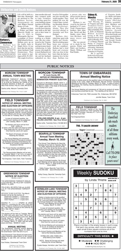 Click here for the legal notices and classifieds on page 3B