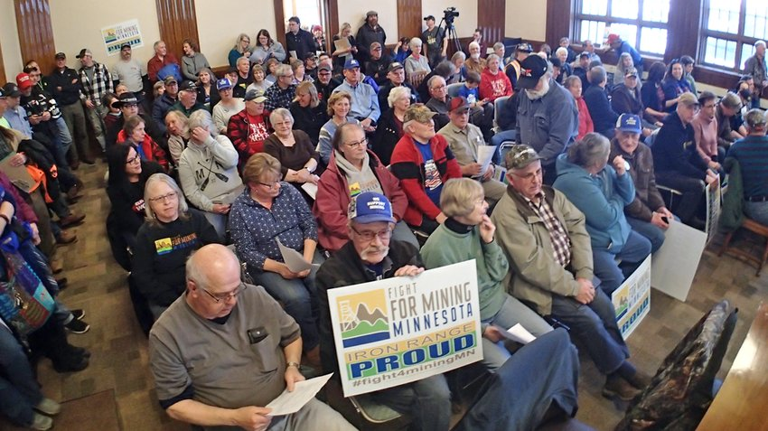 The debate over sulfide mining filled the Ely City Council chambers once again on Wednesday night.