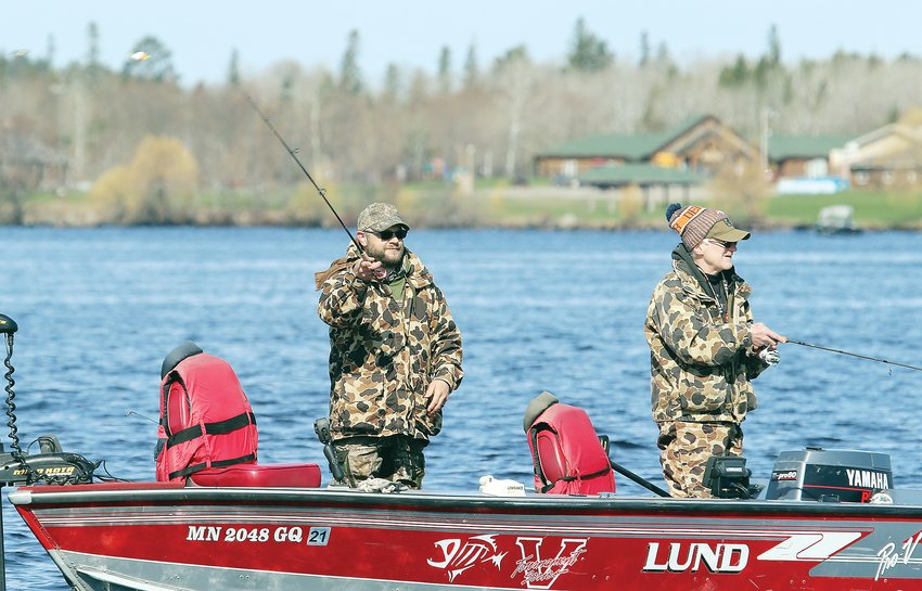 Anglers work the Pike Bay Narrows on Lake Vermilion.