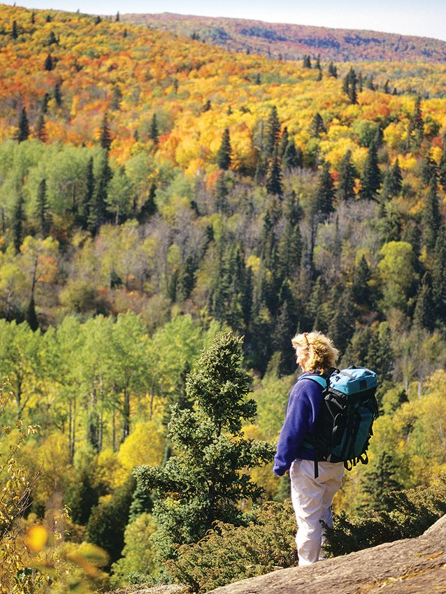An autumn hike along the Superior Hiking Trail, now part of the North Country Trail.