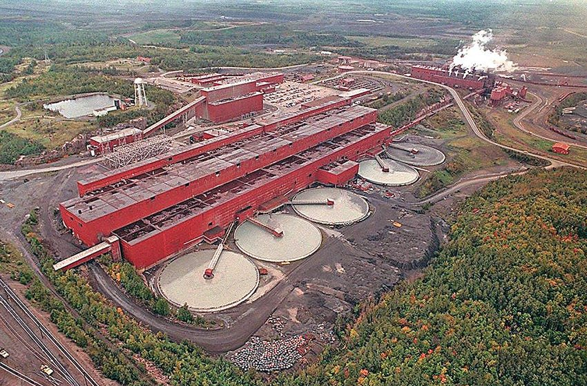 An aerial view of PolyMet's facility near Hoyt Lakes.