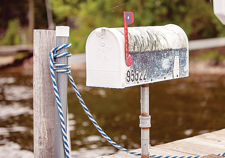 Dock boxes like this allow many Lake Vermilion residents to receive US Mail service by boat.