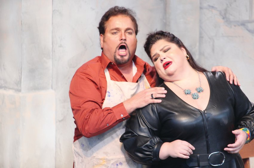 """Puccini's """"Tosca,"""" featuring Leah Crocetto and Rafael Davila, was performed at the Discovery Center in Chisholm last weekend."""