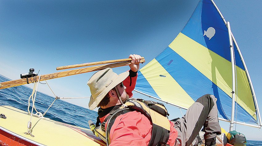 Matt Graves, of Ely, spent the last part of August sailing his Sunfish craft across a 23-mile stretch of Lake Superior to explore Isle Royale.
