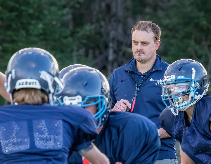 New North Woods Head Coach Joel Anderson assesses his new team during a pre-season   practice this week.