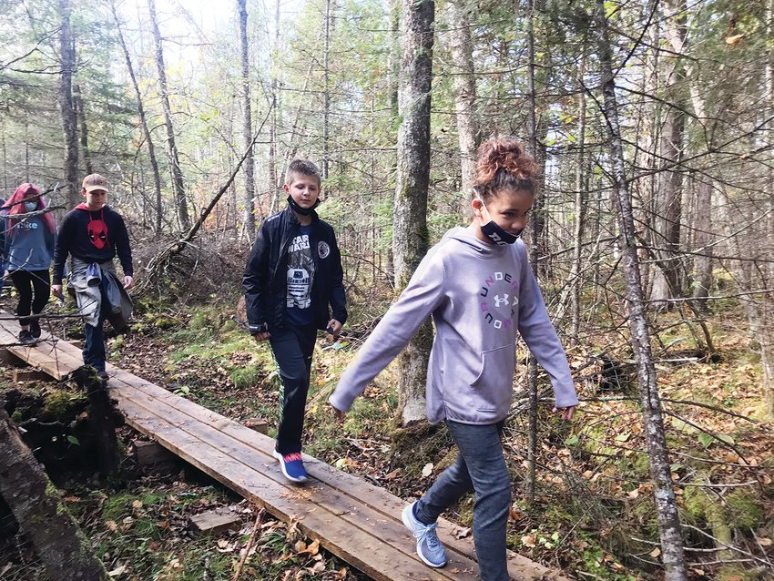 Tower- Soudan    Elementary fifth-and sixth-graders were some of the first to enjoy the new trail