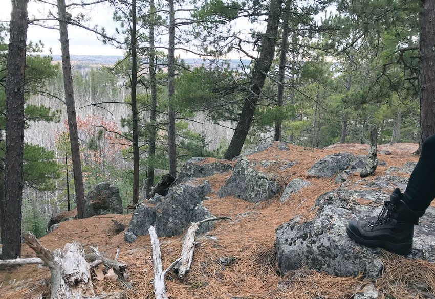 A view from trails on the hill on Tower's north side. Outstanding outdoor recreational opportunities have become   increasingly important for economic development in many small towns.