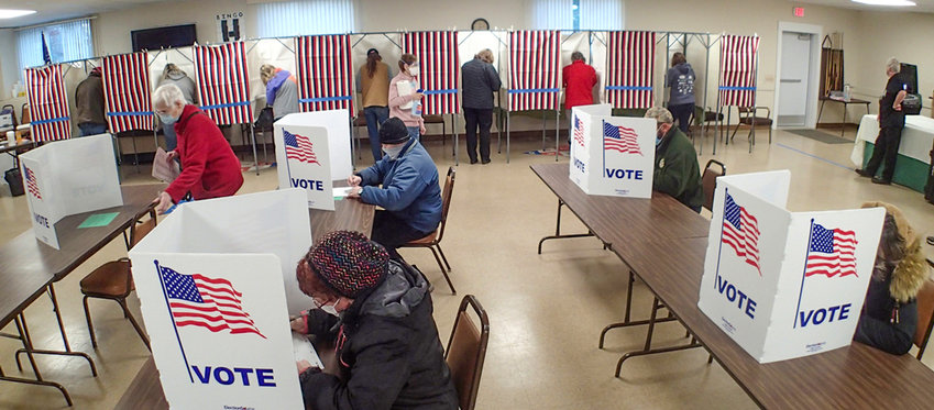 Ely voters cast ballots at the Senior Center.
