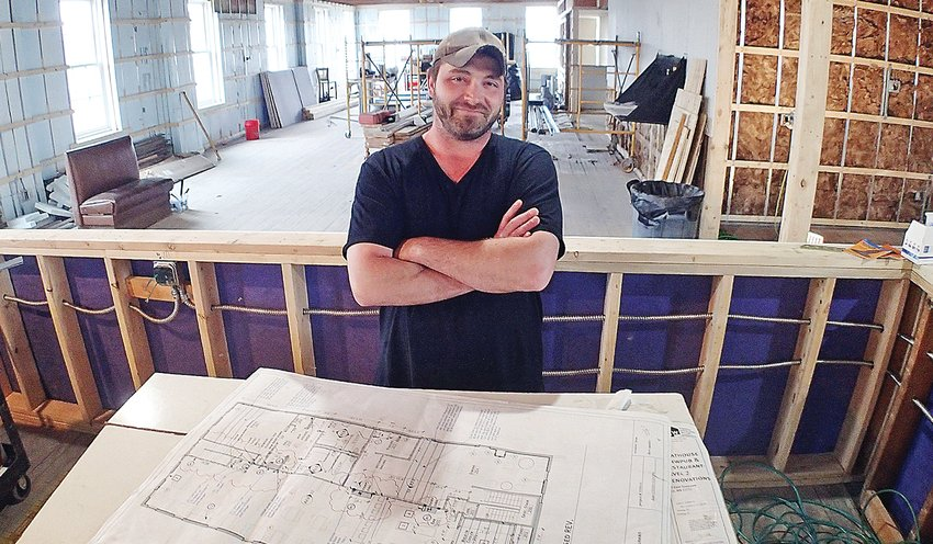 Boathouse Brewpub and Restaurant co-owner Brian Tome is guiding the bar and restaurant through a major expansion project for the landmark's second floor.