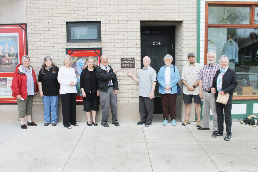 City of Ely officials and Ely Historic State Theater board members gathered Wednesday morning for an unveiling ceremony.
