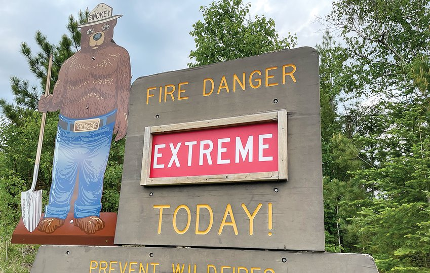 Smokey the Bear puts the word out about the fire danger that has been in place throughout most of the snow-free season so far this year. On and off rains have helped at times, but the overall trend has kept danger high, even during what is usually the coolest and wettest part of the summer.