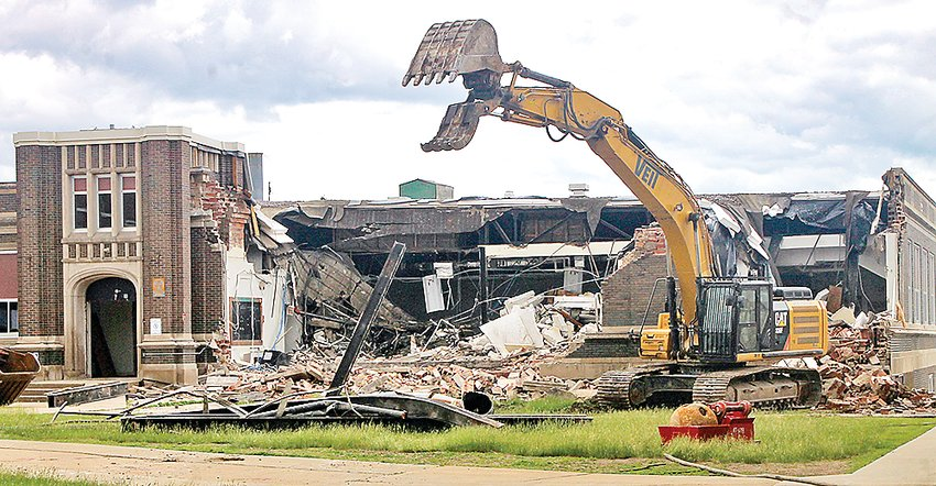 Demolition of the Industrial Arts building started this week.