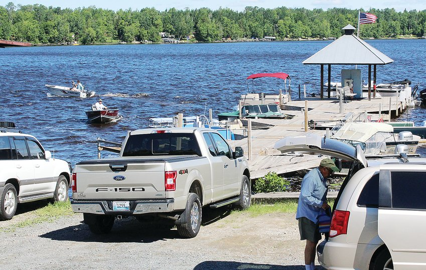 Coming, going, and just arriving at   Aronson Boat Works on Lake Vermilion. The   marine operation can't keep up with the huge spike in demand for boats, motors, and   service.