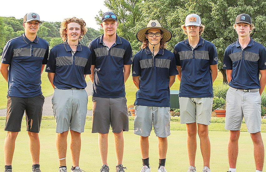 Golfers on the Grizzlies' fourth-place Class A state tournament team included, from left, Ty Fabish, Sam Frazee, Ian Olson, Brant Boutto, Davis Kleppe, and Eli Smith.