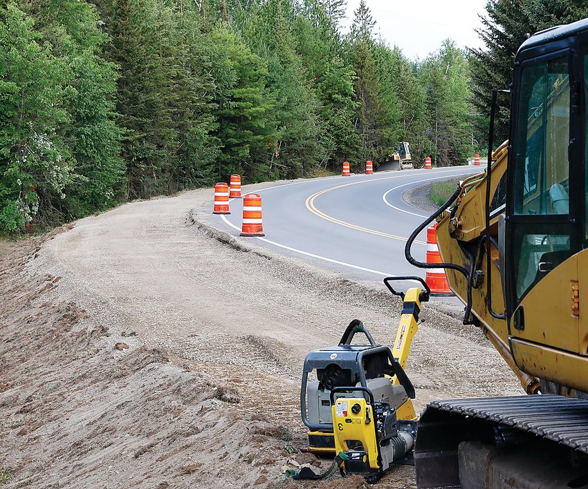ight: A portion of the Mesabi Trail is under construction along the Bear Head Lake State Park Road, in Eagles Nest Township.