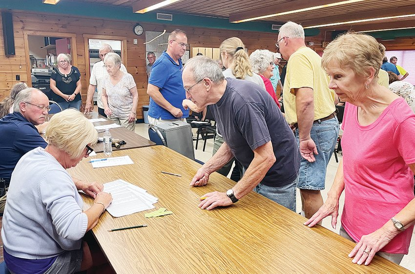 Greenwood Township residents voted by paper ballot last week for the annual levy.