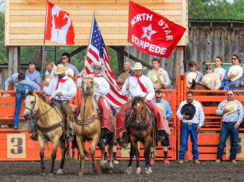 Opening ceremonies on Friday at the North Star Stampede.