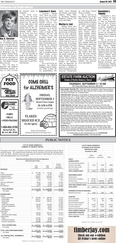 Click here for the legal notices and classifieds from page 5B