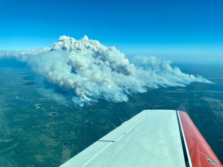 The Greenwood fire, near Isabella, continued to grow Wednesday and is now estimated at just under 26,000 acres.